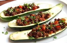 Stuffed zucchini is a great option for a light yet satisfying weeknight dinner. Straightforward and easy to make, start this recipe by cooking the ground beef on the stove and then baking the beef and zucchini together in the oven.