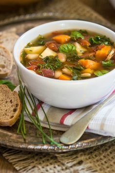 Tuscan, Kale, Carrot and Parsnip Soup | Simply Fresh Dinners