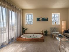 Indoor heated two-seater Jacuzzi!