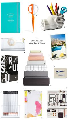 Fun and unique office supplies to add some personality to a home office Cute Office Supplies, School Supplies, Cool Office, Stylish Office, Pencil Holder, Office Organization, Organizing, Home Office Decor, Back To School