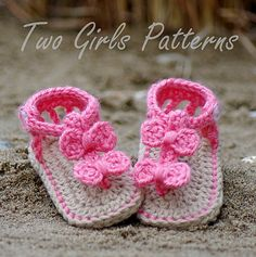 e9f262ff1a2 Ravelry  Baby Seaside Gladiator Sandals pattern by Lorin Jean Crochet Baby  Sandals