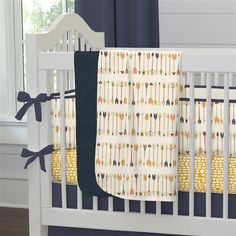 Tribal Arrow Crib Bedding by Carousel Designs.