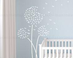 Pusteblume Wandtattoo Libelle | Individuelle Kinderzimmer, Kinder Zimmer Innenarchitektur | Einfach Rakel Anwendung | Im Handumdrehen Kunst | 124
