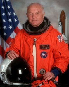 John Glenn, Astronaut -- of all places, met him at a jewelry store in the Fairmont Hotel, San Francisco!