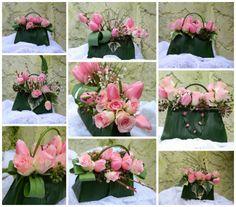 Una borsetta piena di fiori