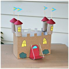 Recycled Cardboard Castle Craft More