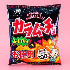 Koikeya Big Bag Karamucho Potato Chips - Hot Chili Japanese Snacks, Japanese Candy, Milk Biscuits, Spicy Bite, Chili Spices, Bubble Milk Tea, Chewy Candy, Crispy Potatoes, Kawaii Shop