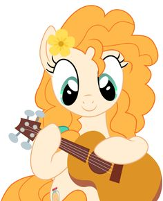 """Pear Butter with guitar from """"The Perfect Pear"""" [S07E13] """"My Little Pony"""" is owned by Hasbro [22/06/17] Corrected wrong order of layers SPOILER↓↓↓↓&n..."""