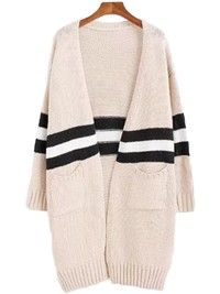 'Estrella' Topshop Stripe Colorblock Cardigan Goodnight Macaroon color cream and white (it's one size) Wrap Cardigan, Open Cardigan, How To Wear Leggings, Family Picture Outfits, Knit Wrap, Teacher Outfits, Weekend Outfit, Long Tops, Size Clothing