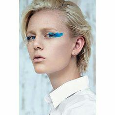Blue creative makeup