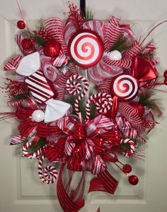 Candy+Crazy+Mesh+Wreath+by+WilliamsFloral+on+Etsy,+$125.00