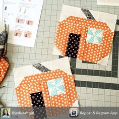 These pumpkins are so adorable! We love seeing what you've created! Tag us if you're joining in for the Spooky Delights Quilt Along!   #spookydelights #spookydelightsquiltalong #bunnyhill #bunnyhilldesigns #showmethemoda #moda #modafabrics #quiltalong #freepattern #fqsfun