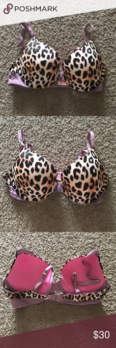 PINK Bra Really cute PINK cheetah print push-up bra size 34B, brand new never been worn! PINK Victoria's Secret Intimates & Sleepwear Bras
