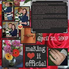 scrapbooking layouts for engagement - Google Search