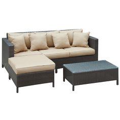 Dimension 3 Piece Sofa Set in Brown Tan