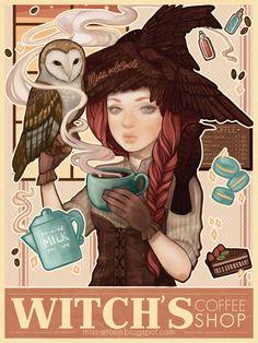 Witch's Coffee Shop by Miss-Etoile.deviantart.com on @deviantART