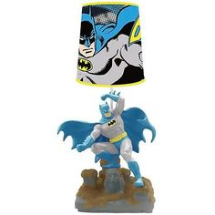 Let the Dark Knight light up your night with this sweet Batman Statue Lamp. It has a great retro design and the colors are so crisp, it looks like Batman just jumped out of his own Comic book.  It's the perfect addition to your B