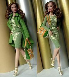 work it girl. Dolly Fashion, Fashion Dolls, Fashion Outfits, Doll Clothes Barbie, Barbie Dress, Barbie Mode, Barbie Wardrobe, Barbie Patterns, Barbie Collection
