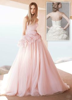 Vera-Wang-Strapless-Ball-Gown-Satin-Corset-Bodice