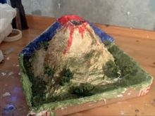 Easy and mess-free volcano model - uses vinegar and baking soda to erupt.