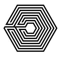 EXO's New Logo, it kinda makes me dizzy, but that's the point, overdose = drugs = dizzyness = EXO.