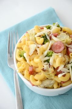 Macaroni and Cheese Kielbasa Recipe-Dinnertime Ideas | theidearoom.net