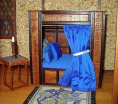 Medieval Cupboard Bed Dollhouse Miniature 1/12 by CalicoJewels, $188.00