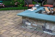 Cappiello Landscaping updated this outdoor living space with Cambridge Pavingstones and a Cambridge Fire pit kit. Click the picture to view all of Cambridge Paver Outdoor Fire Pit Kits!