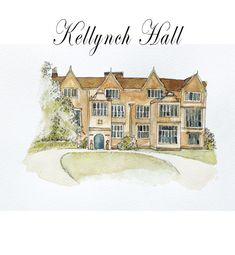 Houses From Jane Austen Books Print a Giclee From by Illustrarti