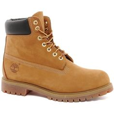 """Timberland Classic 6"""""""" Premium Boots ($220) ❤ liked on Polyvore featuring shoes, boots, men, guys, sneakers, brown, shock absorbing shoes, nubuck leather shoes, traction shoes and brown shoes"""