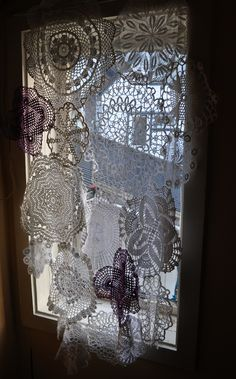 doily curtain - Google Search