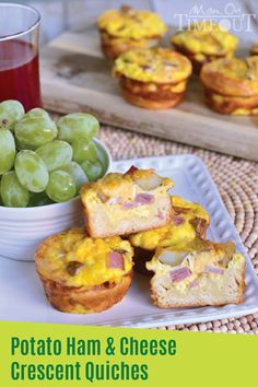 With these bladder-friendly Potato Ham & Cheese Crescent Quiches, you'll have a quick and easy breakfast on the go for every day of the week! The trick is to bake the egg mixture in muffin tins for perfectly portioned quiches. Click for the full recipe!