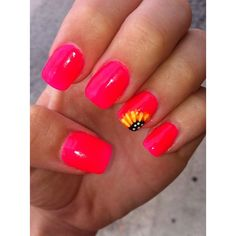 trendy nail Art ideas for summer 2015 via Polyvore