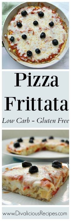 Pizza frittata is when two great foods combine!  A great low carb and gluten free dish.