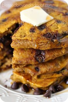 Oh my! Pumpkin Chocolate Chip Pancakes makes fall mornings even brighter!