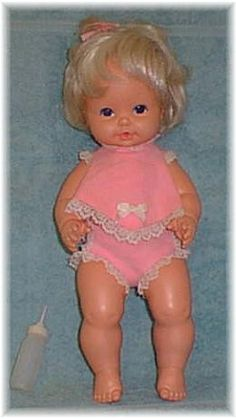 "This was the first in a line of very popular baby dolls by Mattel (marked 1969, but first marketed in 1970) called ""Baby Tender Love"".   My first 'baby'"