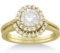 #Allurez                  #Design Your Own Engagement Ring                    #Petite #Halo #Engagement #Ring #Wedding #Band #Yellow #Gold #(0.32ct)        Petite Halo Engagement Ring & Wedding Band 16k Yellow Gold (0.32ct)                                     http://www.snaproduct.com/product.aspx?PID=5760428