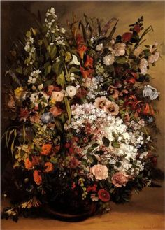 Bouquet of Flowers - Gustave Courbet  1862