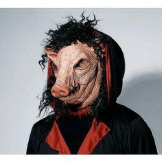 Saw Pig MASK : Get It On Fancy Dress Superstore, Fancy Dress & Accessories For The Whole Family. http://www.getiton-fancydress.co.uk/seasonal/halloweenhorror/halloweenaccessories/halloweenmasks/sawpigmask#.UuogEfsry10