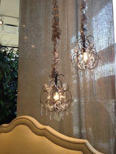 Arhaus mini chandeliers - over the tub?