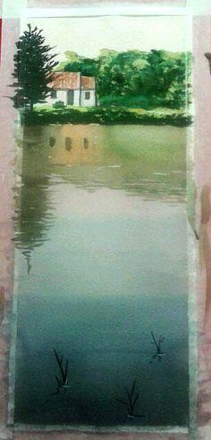 Acuarela casa en Francia. Taller del profesor Pablo Rubén Beach, Painting, Outdoor, Home, Professor, Nativity Scenes, France, Atelier, Sketches