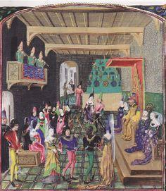 Chroniques de Angleterre, ca. 1470. Vienna, Osterreichische nationalbibliothek Cod. 2534 fol. 17r.