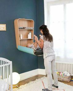 Incrível ideia para quem quer otimizar espaço no quarto do baby. CUIDADO com a marcenaria, tem que ser bem executada! Pinterest : maryymeddeiros ☼ ✧