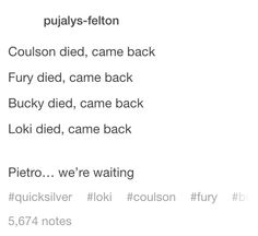 MARVEL YOU BETTER BRING MY PIETRO BACK OR I WILL KILL YOU!!!!