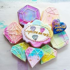 Gemstone Cookies The Painted Box - The Painted Box added 7 new photos.