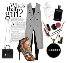 """Untitled #7"" by adina-elena-d on Polyvore featuring 7 For All Mankind, rag & bone, Balmain and Yves Saint Laurent"