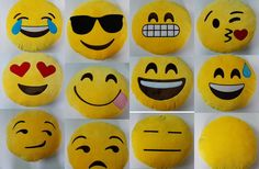 Emoji Smiley Emoticon Stuffed Plush Toy Doll Cushion by Lsofttoy