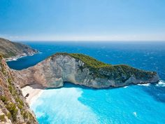 Zakynthos or Zante, Greece - Top 14 Incredibly Stunning Beaches You Should Visit Before You Die Greece Wallpaper, Beach Wallpaper, Hd Wallpaper, Wallpaper Awesome, Scenery Wallpaper, Desktop Wallpapers, Nature Wallpaper, Best Tourist Destinations, Honeymoon Destinations