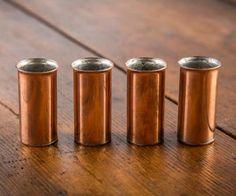 Pure Copper Old West Shot Glasses | DudeIWantThat.com