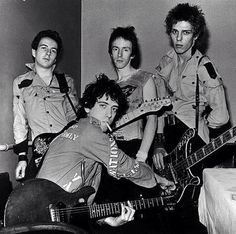 The Clash - Joe Strummer, Mick Jones, Paul Simonon and Topper Headon.